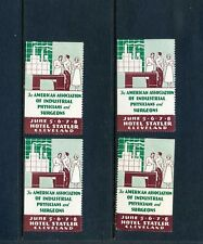 4 VINTAGE AMERICAN ASSN INDUSTRIAL PHYSICIANS & SURGEONS POSTER STAMPS (L658)