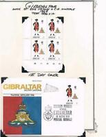 Gibraltar - 1969 - Uniforms - Pl Blks/4 & FDC's - SC 226-229 [SG 240-243] MNH 20