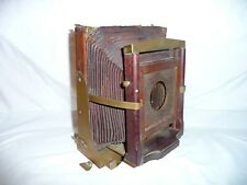 Antique Victorian Wood & Brass Field Camera Folding Dust Cover Part