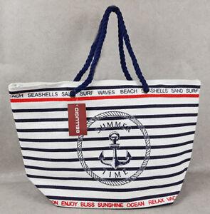 Große Badetasche Strandtasche Shopper Schultertasche XXL Beach Bag Urlaub Sauna