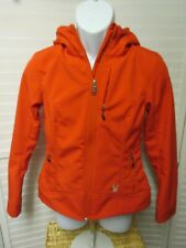 Spyder Womens Ski Jacket Coat Ladies Size Small Red Hooded Zip Softshell