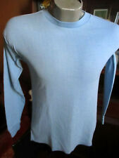 Small True Vtg 70's Penneys Baby Blue Logger Thermal Ls Under Shirt