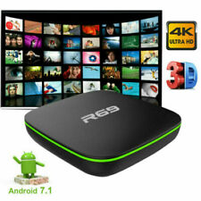 2020 Smart TV Box 7.1 4K R69 WiFi HDMI USB Quad Core 3D Media Player Black UK