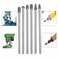 6X 10mm Rotary Aluminum Burr Cut 6mm 1/4'' Shank 150mm Long Reach Carbide Burs