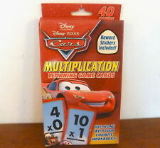 DISNEY CARS MULTIPLICATION LEARNING GAME CARDS - NEW