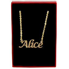 Alice - Gold Name Necklace - Personalized Jewellery - Bridesmaid Wedding Gifts