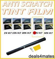 ANTI-SCRATCH PROFESSIONAL CAR WINDOW TINT FILM MEDIUM SMOKE BLACK  35% 76cm x 3M