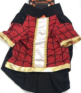 Dog Pet Halloween Black Red Vampire Outfit Costume New