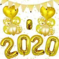 2020 Happy New Year Number Gold Foil Balloons Eve Party Decor Merry Christmas