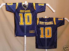 WEST VIRGINIA MOUNTAINEERS  Colosseum  #10   FOOTBALL JERSEY  Youth Large  NWT