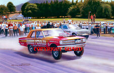 Dick Landy vs. Bill Flynn at Dover 1965 Drag Racing Art Print