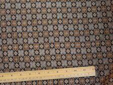 "Orange/Black Satin Brocade Jacquard 100% Silk Fabric 44"" Wide, By Yard (JD-357)"