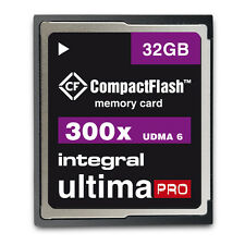 Integral 32GB 300x speed Ultima Pro Compact Flash Card.