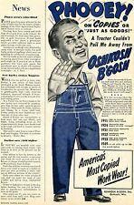1949 Oshkosh B'gosh Work Overalls Phooey! Print Ad