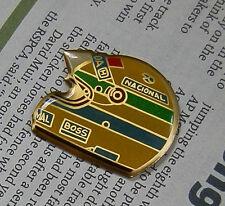 VTG NOS AYRTON SENNA HELMET FORMULA ONE F1 PIN BADGE c.1988