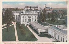Antique POSTCARD c1915 Presidents Office White House State Dept WASHINGTON, DC