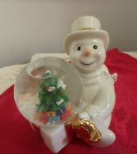 Snowman Christmas, Lenox, Tree In Snow Globe Package, Gold Accents