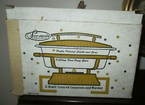 VINTAGE SERV-MASTER CREATIONS 2 QUART COVERED CASSEROLE AND WARMER IN BOX