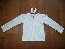 NEW MONSOON WHITE GYPSY TOP BLOUSE SMOCK SHIRT SUMMER TOP 6-8 YEARS