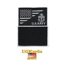 USN US Navy American Flag US Military Tactical Morale Badge Patch Hooked Anchor