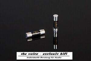 Hifi Tuning Sicherung - Supreme³ - jede Größe 5x20 / 6,3x32 mm  Gold/Silber Fuse