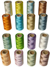 16 Rayon Embroidery Machine Thread Spools 16 Different Colours **AP