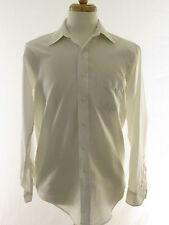 Vintage Nicola Mancini Mens Dress Shirt White Embroidered Formal Wedding 15-34