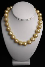 """Vintage Chanel  Karl Lagerfeld 18"""" Large Gripoix Glass Cultured Pearl Necklace"""