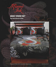 Licenced Miami Ink Tattoo Design Quilt Cover Set Single Bed