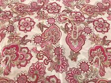 Pottery Barn Kids Pink Paisley Cotton Pillow Sham / Pillow case Standard 20 x 26