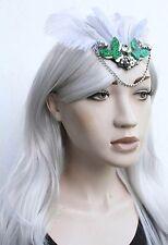 Butterfly pagane Gatsby piume Boho Goa capelli clip fiore festa ibitza Facinator