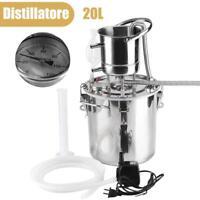 DIY 20L  Casa Distillatore Alambicco Acciaio Inox per Acqua Vino Oli Essenziali