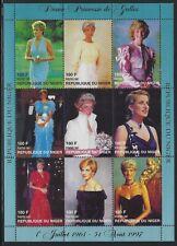 Niger 1997 Princess Diana Designer Dresses S/S Sc# 945 NH