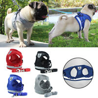 Pet Dog Strong Vest Harness Leash Collar No Pull Adjustable Reflective XS-M-XL