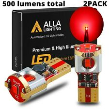 Alla Lighting 2x 194 Super Bright Red 18-LED Rear Side Marker Lights Bulbs Lamps