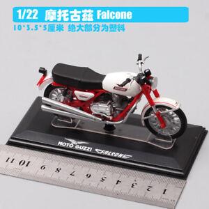 1/22 GUZZI falcone white dirt bike Motocross Diecast model Motorcycle toy