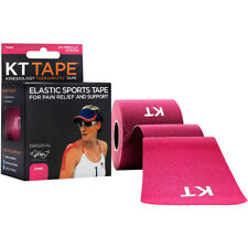 "KT Tape Cotton 10"" Precut Kinesiology Therapeutic Sports Roll, 20 Strips, Pink"