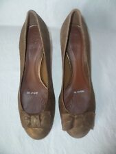 CLARKS BROWN/BRONZE LEATHER MID/HIGH HEEL COURT SHOES,SIZE UK 6/ EU 39,BRAND NEW
