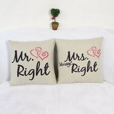 Mr Mrs always right cushion cover