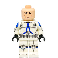 Custom LEGO Star Wars Minifigure 501st Clone Trooper (Without Helmet)