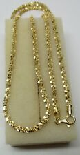 18K GOLD ON 925 STERLING SILVER Italian Etched Spiral Chain Designer Necklace