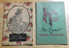 Bb112 Lot Of 2, Lone Star Canning Booklet, Good Cook Book 1930s