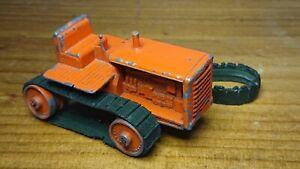 matchbox early lesney moko very rare farm crawler tractor orange lot 2
