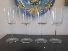 "CALVIN KLEIN CRYSTAL SIGNED ""DALTON"" WATER GOBLET GLASSES"