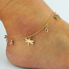 Special Gold Chain Ankle Anklet Bracelet Barefoot Sandal Beach Feet Jewelry New1