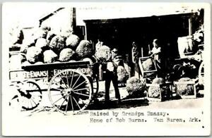 "1940s VAN BUREN Ark. RPPC Photo Postcard ""Raised By Grandpa Snazzy"" Exaggeration"