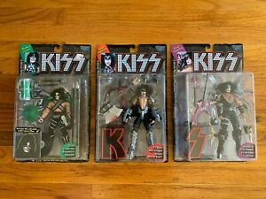 KISS 1997 Ultra Action Figures LOT Mcfarlane Toys Peter Criss Stanley Simmons