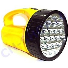 TORCIA A 19 LED LAMPADA RICARICABILE POTENTISSIMA LUCE ILLUMINA 500 METRI