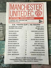 Manchester United v Stoke City 1980 1979/80 FA Youth Cup 4th round