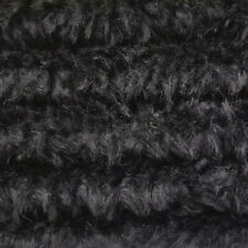 "1/4 yd 340H Black Intercal 5/8"" Med. Dense Heirloom Finish German Mohair Fabric"